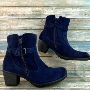 Earth Origins Tori Blue Suede Ankle Boots